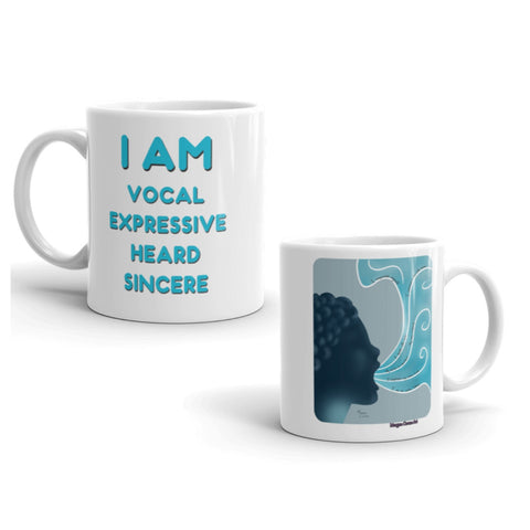 Throat Chakra Art & Affirmation Mug