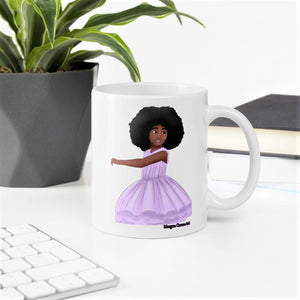 Afro Ballerina Mug - Morgan Cerese Art