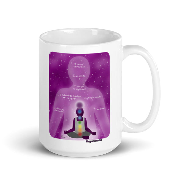Crown Chakra Art & Affirmation Mug