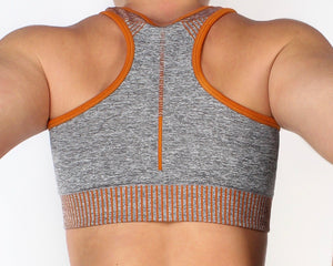 PUMP SPORTS TOP - GREY / ORANGE