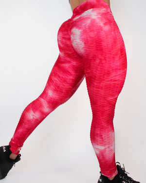 DARE LEGGINGS - WHITE / RED