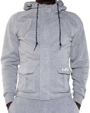 ALPHA HOODIE - LIGHT GREY