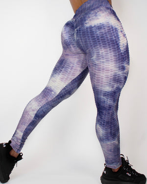 DARE LEGGINGS - WHITE / PURPLE