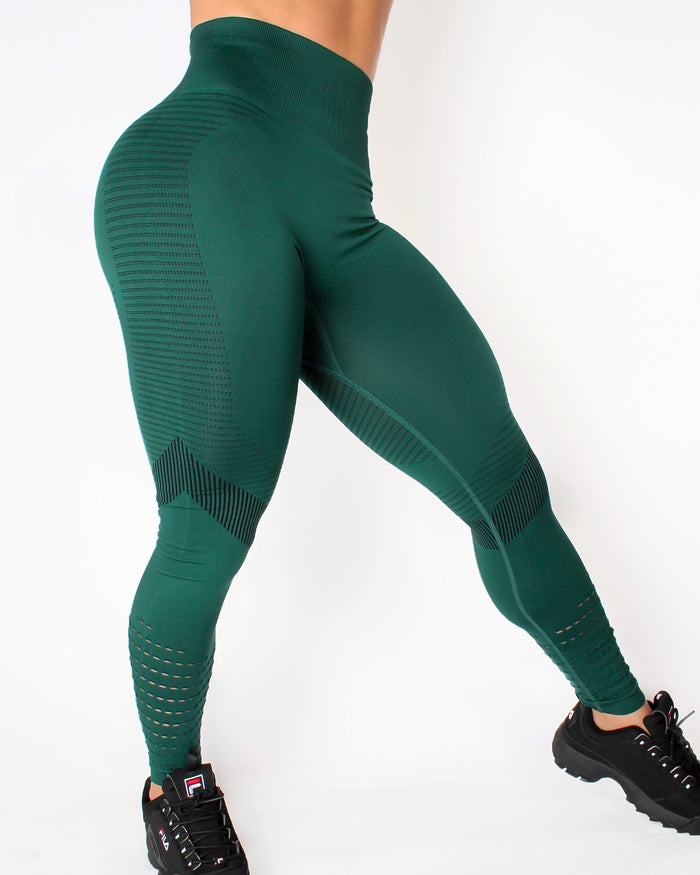GRAVITY LEGGINGS - FOREST GREEN