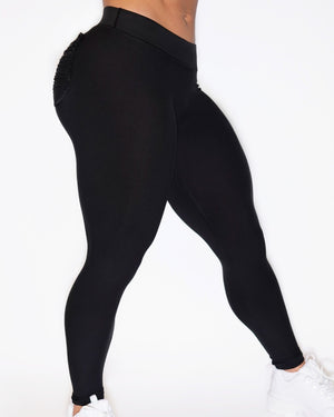 CURVE-LOW LEGGINGS - BLACK