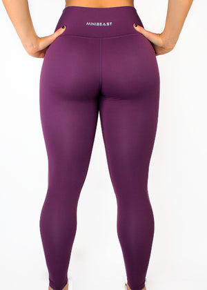 LIFESTYLE LEGGINGS - PLUM