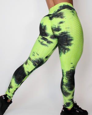 DARE LEGGINGS - BLACK / LIME
