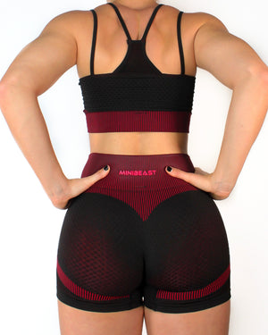 VORTEX SPORTS TOP - BLACK / RED
