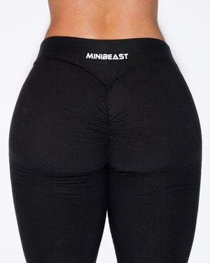 SHAPE-LOW LEGGINGS - BLACK