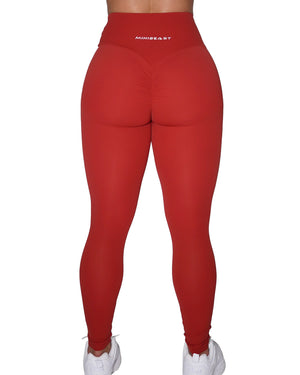 BUTTER LEGGINGS - BARN RED