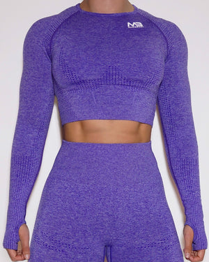 LUCID SEAMLESS CROP TOP - PURPLE
