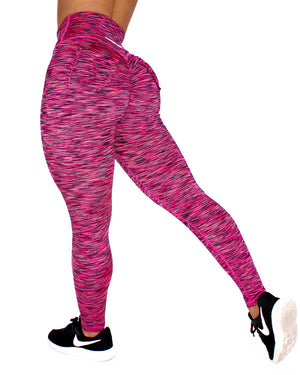 CURVE LEGGINGS - RASPBERRY (STRETCH)
