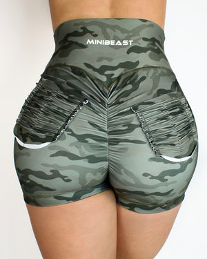 CURVE SHORTS - ARMY CAMO