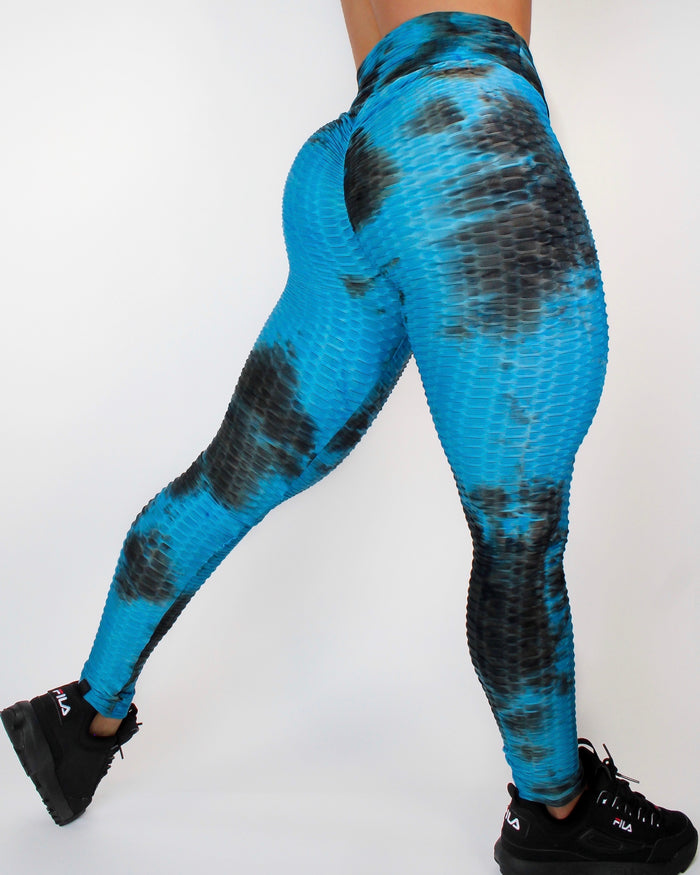 DARE LEGGINGS - BLACK / BLUE