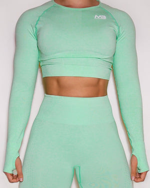 LUCID SEAMLESS CROP TOP - MINT