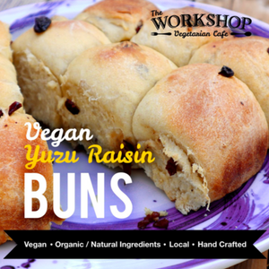 The Workshop-Vegan Yuzu Raisin Buns-Tray of 9 Buns