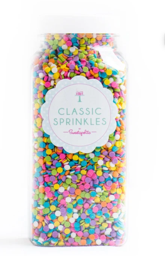 Sweetapolita-Pastel Sequin Sprinkles-Vegan and GF-4oz