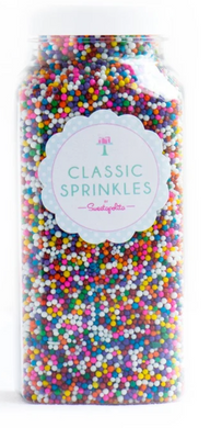 Sweetapolita-Rainbow Nonpareils Sprinkles-Vegan and GF-4oz