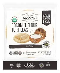 The Real Coconut-Coconut Flour Tortillas-Vegan, Gluten Free and Paleo-12 pack