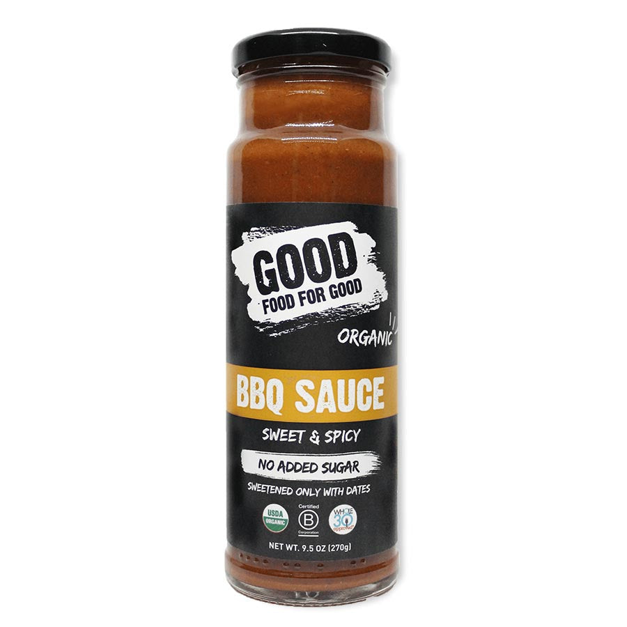 Good Food-Organic BBQ Sauce-Sweet Spicy-Vegan