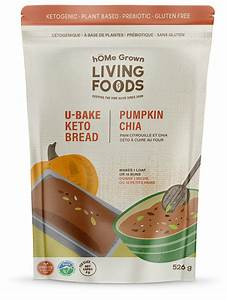 Home Grown Living Foods-Keto Buns and Bread Dry Mix-Pumpkin Chia