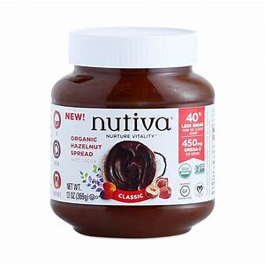 Nutiva Chocolate Hazelnut Spread-Vegan and GF