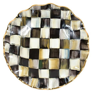 Courtly Check Fluted Dessert Plate - House of Moseley