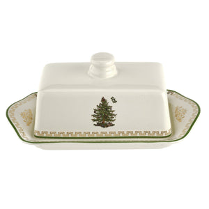 Christmas Tree 2019 Gold Covered Butter Dish