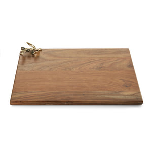 Olive Branch Gold Oversized Wood Serving Board - House of Moseley