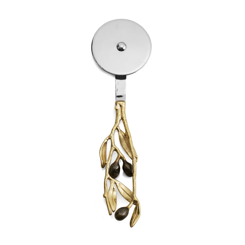 Olive Branch Gold Pizza Cutter - House of Moseley