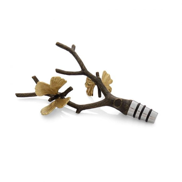 Butterfly Gingko Wine Stopper - House of Moseley