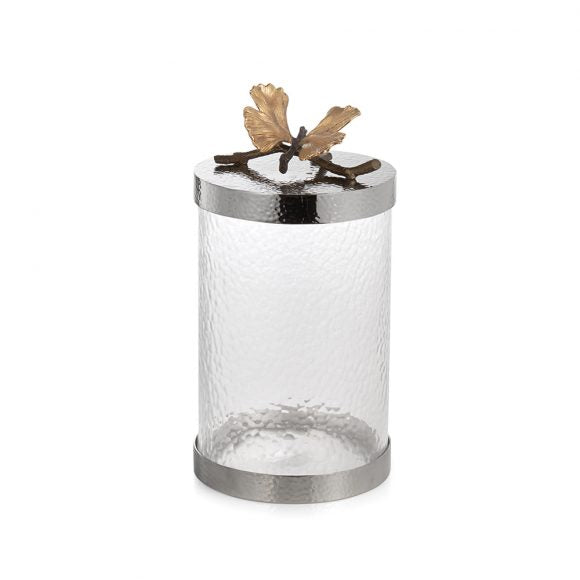 Butterfly Gingko Canister, Medium - House of Moseley