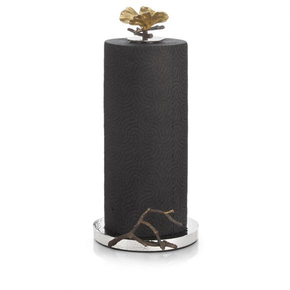 Butterfly Gingko Paper Towel Holder - House of Moseley
