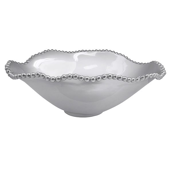 Pearled Oval Wavy Serving Bowl - House of Moseley