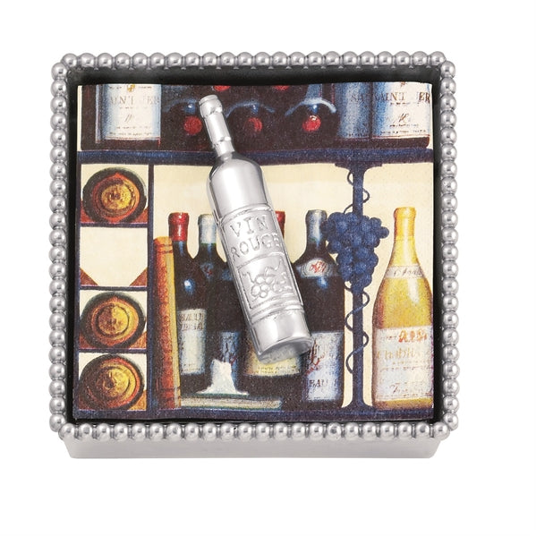 Wine Bottle Beaded Napkin Box - House of Moseley