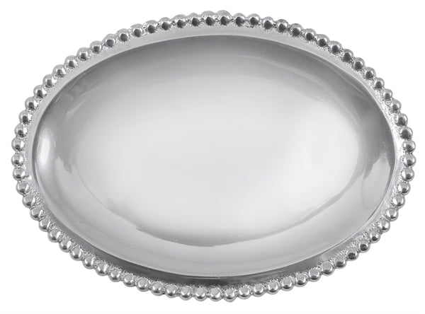 Beaded Oval Statement Tray - House of Moseley