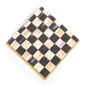 Courtly Check Paper Napkins - Luncheon - Gold - House of Moseley