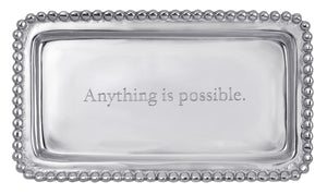 Anything Is Possible Beaded Statement Tray - House of Moseley
