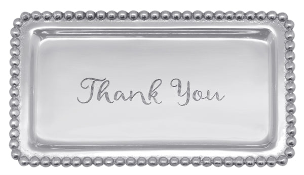 """Thank You"" Beaded Tray - House of Moseley"