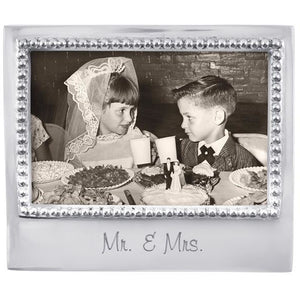 Mr. & Mrs. Beaded 4x6 Frame - House of Moseley