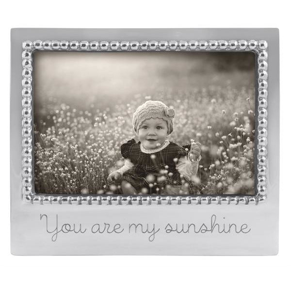 """You Are My Sunshine"" Beaded 4x6 Frame - House of Moseley"