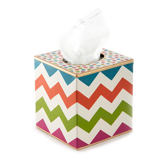 Trampoline Boutique Tissue Box Cover - White - House of Moseley