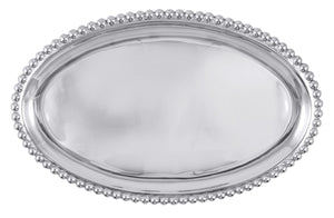 Pearled Large Oval Platter - House of Moseley