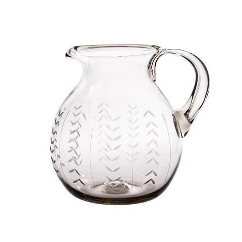 Floreado Pitcher, Clear - House of Moseley