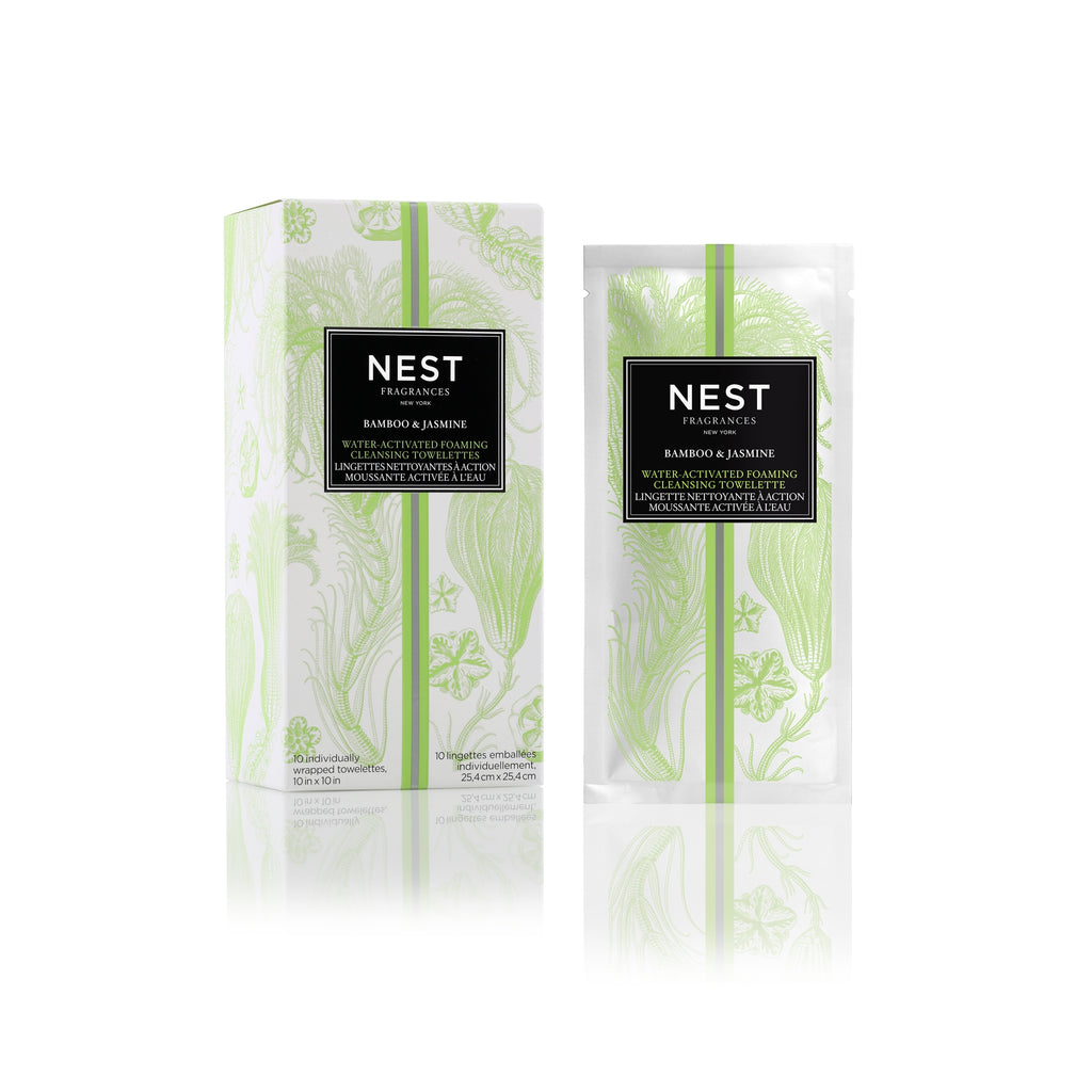 Bamboo & Jasmine Water-Activated Foaming Cleansing Towelettes - House of Moseley