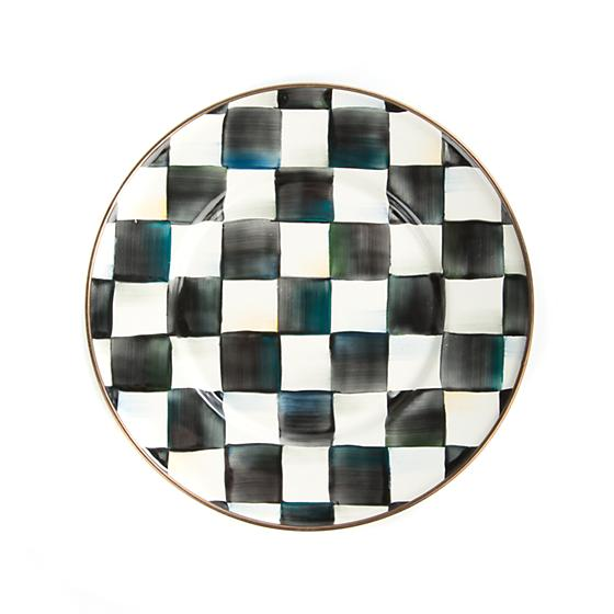Courtly Check Enamel Salad/Dessert Plate - House of Moseley