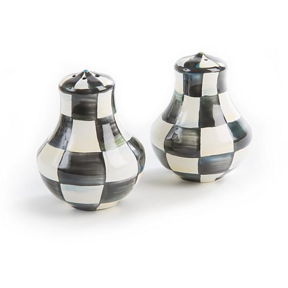 Courtly Check Enamel Salt & Pepper Shakers - House of Moseley