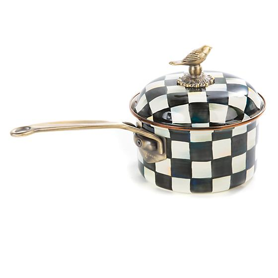 Courtly Check Enamel 1 Qt. Saucepan - House of Moseley