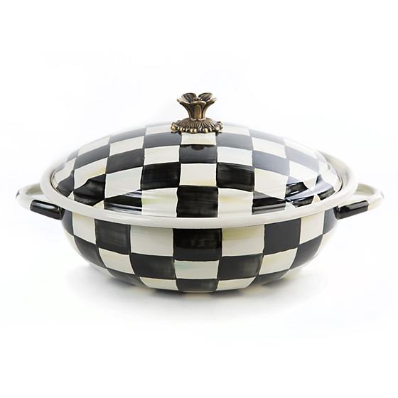 Courtly Check Enamel Casserbole - Large - House of Moseley