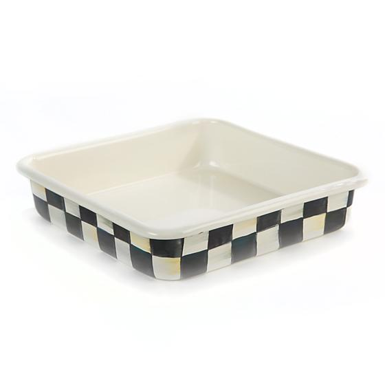"Courtly Check Enamel Baking Pan - 8"" - House of Moseley"